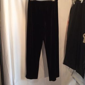Deep chocolate crushed velvet pull stretch pants